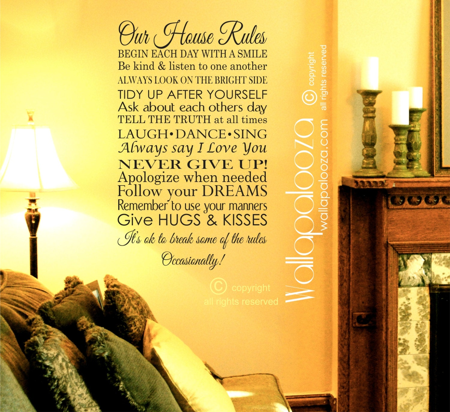 Our House Rules Wall Decal Family Rules Wall Decal In This
