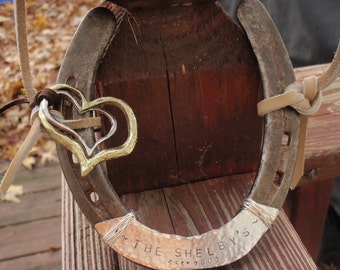 Good Luck Horse Shoe Personalized Hand Stamped Barn Wedding Decor