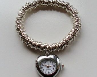 Multi-link Charm Bracelet Watch