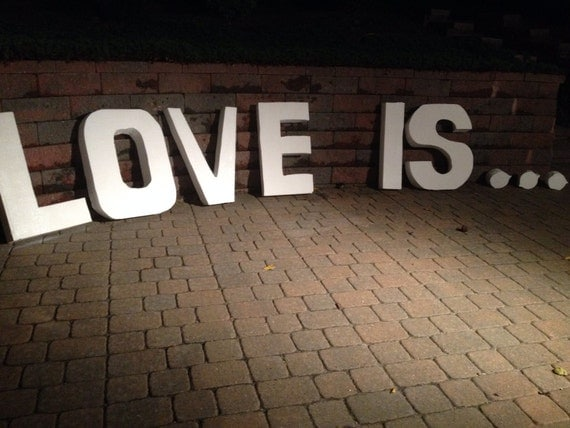LOVE IS Styrofoam Letter 36 Inches Tall By DesignsbyDazey