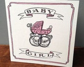 New Baby Cards - Baby Girl Card - Baby Boy Card - Baby Card - Congratulations Card - Baby Pink Card - Baby Blue Card - Boy and Girl Cards