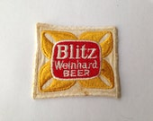 Vintage Blitz Weinhard  Beer Patch Embroidery Sew On Unused