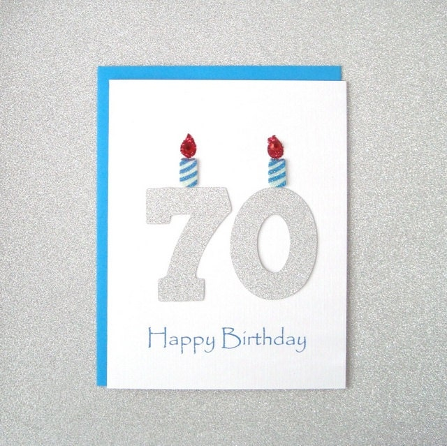 70th Birthday Card 70th Milestone Birthday Card 70th – 75th Birthday Card