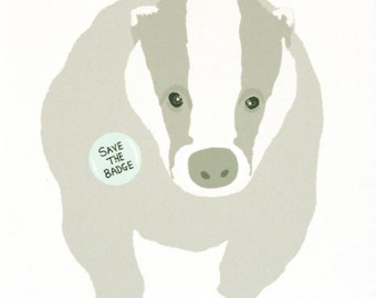 Badger Card Save the Badge