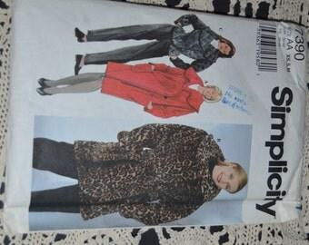 Simplicity 7390 Misses  jacket Sewing Pattern UNCUT - Sizes XS-S-M