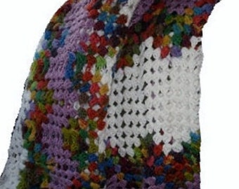 Granny Square Ripple Crochet  Blanket Throw Afghan