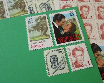 Gone With the Wind ... Unused Vintage Postage Stamps ... Enough to Mail 5 letters