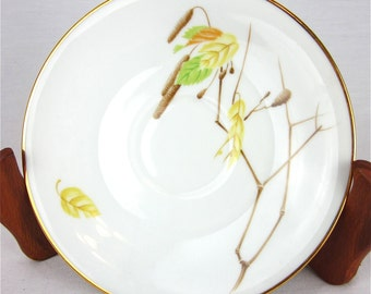 Heinrich Bavaria Germany Saucers, Vintage China Replacement, Autumn