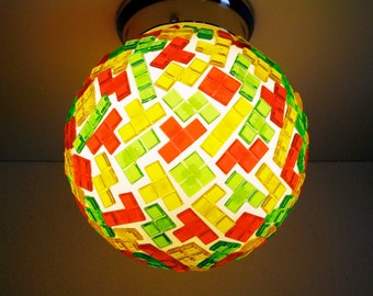 TETRIS Light Globe, light fittings, cool lamps, living room lighting, interior lighting, bedroom lighting ideas, novelty lights, tetris gift