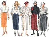 Wrap Skirt Pattern Vogue 1466 Size 10 Waist 25 Skirt With Band Variations Side Front Pockets Pleats Vintage 80s Pattern UNCUT FF