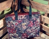 50% OFF // Ricardo Floral Tote with Leather Lining