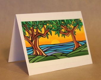 West Coast Art Cards By Misha Smart Artworks- 'Arbutus Trees'