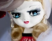 """meet """"Dearie Departed"""" upcycled bradley glamour doll ooak handpainted HOLD for CELAI SINCLAIR"""