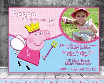 Peppa Pig Invitation Printable Party
