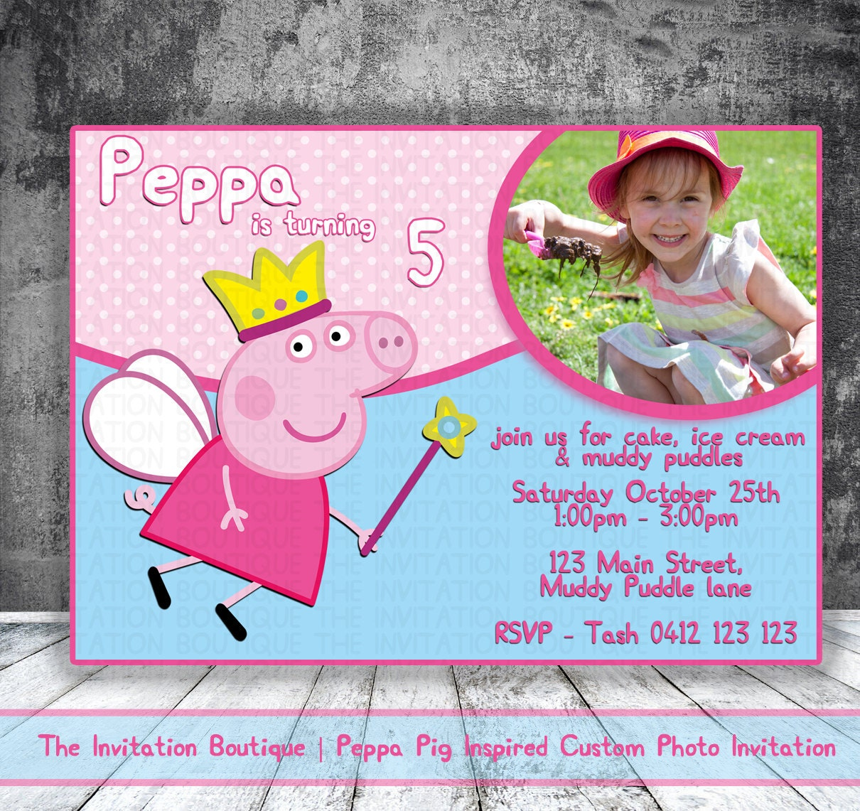Peppa Pig Invitation Printable Party