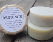 Bentonite Clay Soap - Unscented, Shaving, and Oily Skin Soap