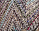 """BabyLove Brand """"Threaded Colors Chevron"""" Blanket - Crochet Pattern/Tutorial - rectangle throw - blanket is also available"""