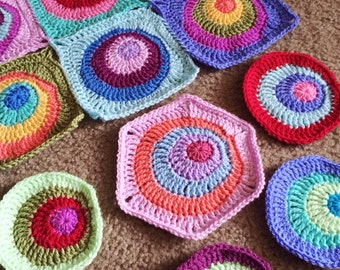 Pattern - BabyLove Brand Offset Circles Blanket - Crochet Pattern/Tutorial -  throw - blanket is also available