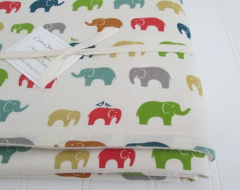 Organic Baby Blanket, ELLIE FAM, Organic Cotton Fleece, BIRCH Fabrics, 28 x 34 Inches, Organic Baby