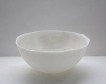 Stoneware English fine bone china vessel with mother of pearl luster interior - iridescent