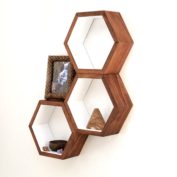 honeycomb cubby shelves wall shelving by haasehandcraft on. Black Bedroom Furniture Sets. Home Design Ideas