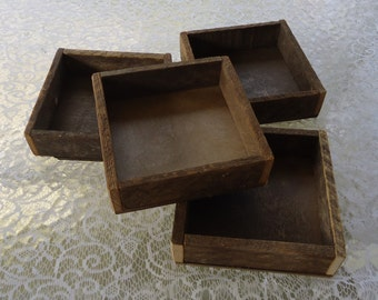 Wood box, reclaimed wood tray, box rustic wedding centerpiece tabletop, organizer, wooden box,