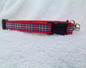 Handmade Royal Stewart Tartan Cat Collar
