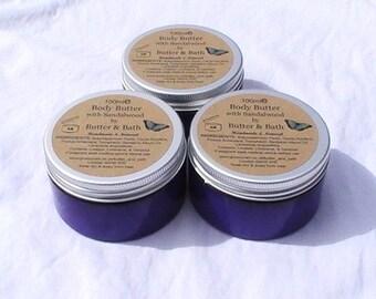 Sandalwood Body Butter, All Natural Whipped Shea Butter Body Lotion, Pure Sandalwood Lotion,  Hydrating Body Cream, Sandalwood Body Balm