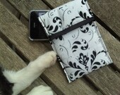 Case for mobile phone in black and white