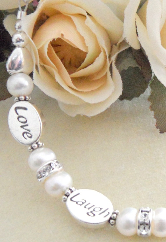 Wedding bracelet, bride jewelry, wedding wish jewelry, wedding gift, wish bracelet, bridesmaid wish bracelet, from dad bride gift, wedding