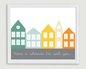 Home Is Printable, Instant Download,  Art Print, Nursery Print