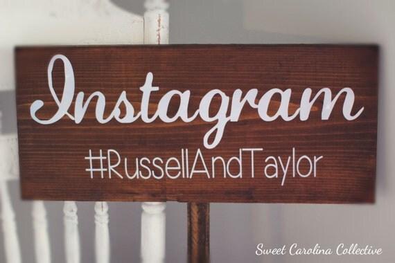 Instagram Wedding Sign, Wedding Wooden Sign - Instagram Sign IG-1