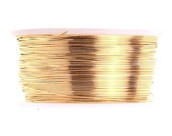 26G /.40mm Brass Wire 30 yd/90 Feet  - Non Tarnish Gold Brass Jewelers Wire - Jewelry - beading - beaded flowers - crochet - Viking Knit