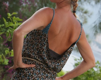 SUMMER SALE DISCOUNT Wrap Dress One Size Fits All Dress Summer Dress Halter Dress Handmade Dress Woman Dress Hippie Dress