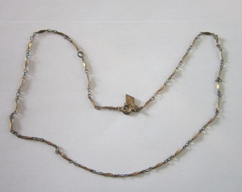 Vintage Sarah Coventry Gold Tone Fancy Chain Necklace