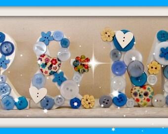 Mr & Mrs Wedding Sign - Mr and Mrs Blue-Floral