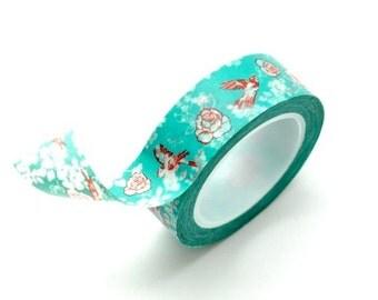 Washi Tape Paper Masking Tape - Bird & Roses