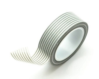 Washi Tape Paper Masking Tape - Gray Stripes