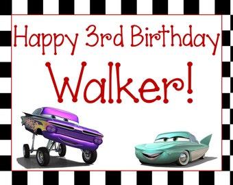Cars Birthday Sign