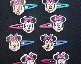 Minnie Mouse Clip Set