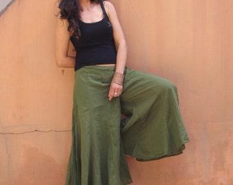 Wide Leg Pants  ...Skirt Pants  ...Color Green