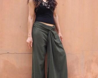 Wide Leg Pants .......Dress Pants ......Color Green