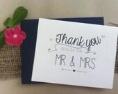 Wedding Script Thank You Card