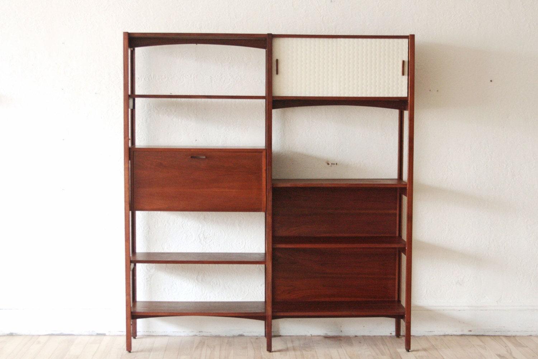 Mid Century Modern Wall Unit Bookshelf by OtherTimesVintage