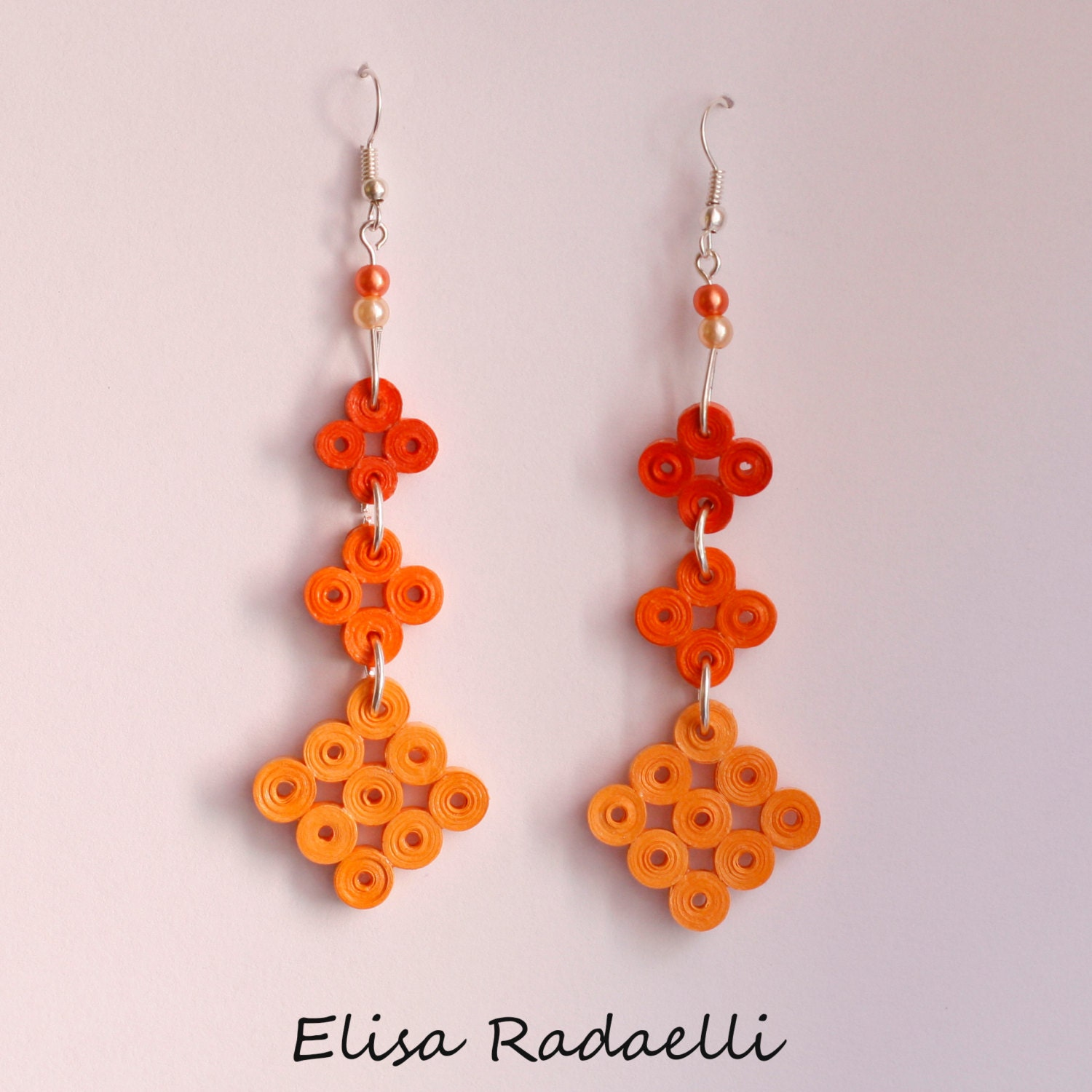 Quilling Papers Earrings: Paper Quilled Earrings By ElysianMeraki On Etsy