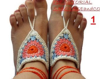 CROCHET PATTERN barefoot sandals