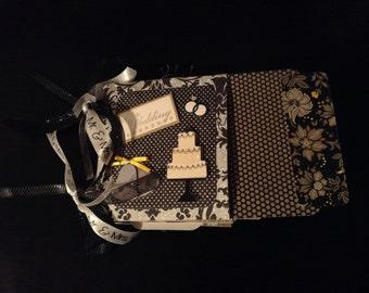 WEDDING LOVE 5x5 Paper Bag Mini Album Scrapbook Handmade
