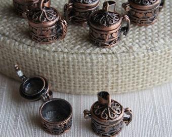 Prayer Box Locket in Copper Round Chest Design - 1pcs