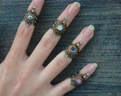 knuckle ring midi ring CHOOSE ONE armor ring nail ring claw ring gothic rings victorian rings moon goddess ring boho rings festival jewelry