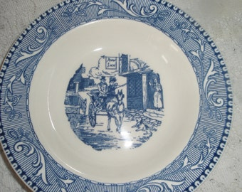 Blue and white China Dish  Wall hanging Serving dish titled  Shakespeare Country